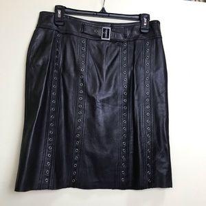 Danier Leather Studs Rivets Embellishments Skirt